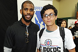 Los Angeles Clippers at Vision To Learn event