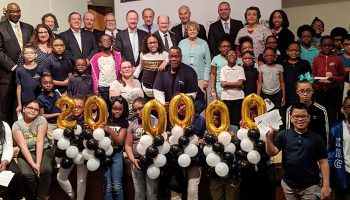 Celebrating 200,000 kids helped with vision screenings and eyeglasses