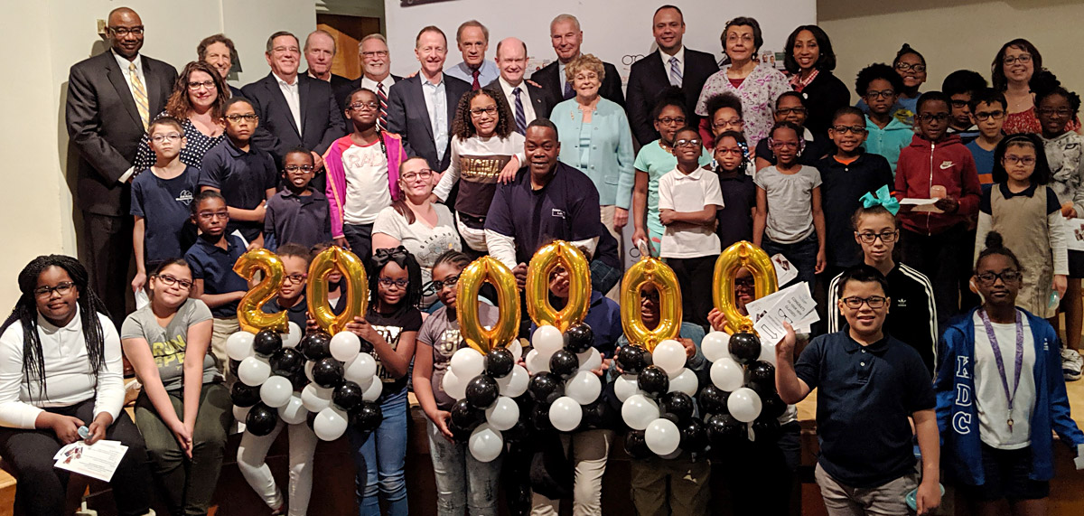 Celebrating 200,000 kids helped with vision screenings and eyeglasses