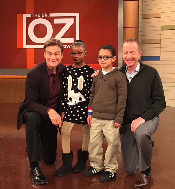 Dr. Oz and Austin Beutner with student from Delaware