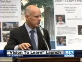 CBS13 Governor Brown Talks About Vision To Learn