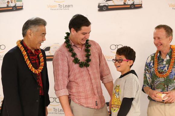 Student receives new glasses in Hawaii