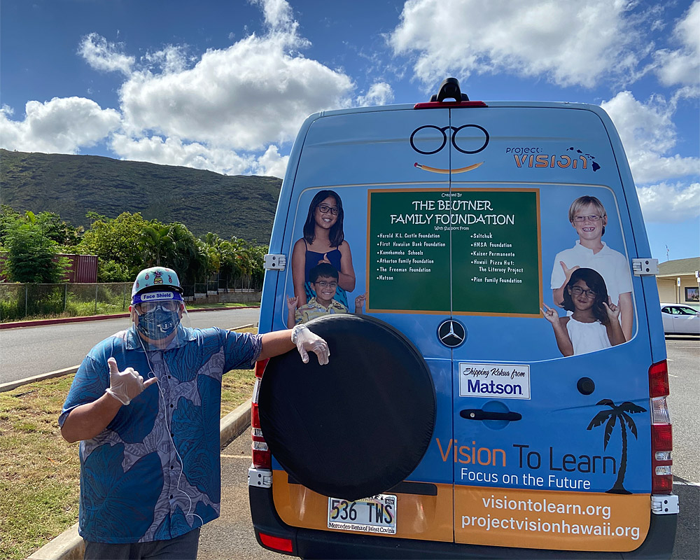 Vision To Learn Hawaii Helping During Covid