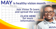 Healthy Vision Month – May 2015