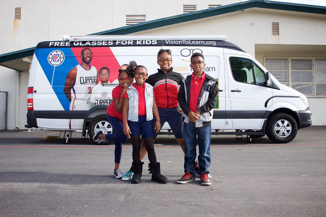 Los Angeles Clippers mobile clinic