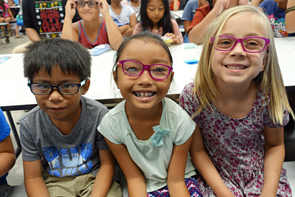 The smiles on the keiki at Kihei Elementary School are clear!