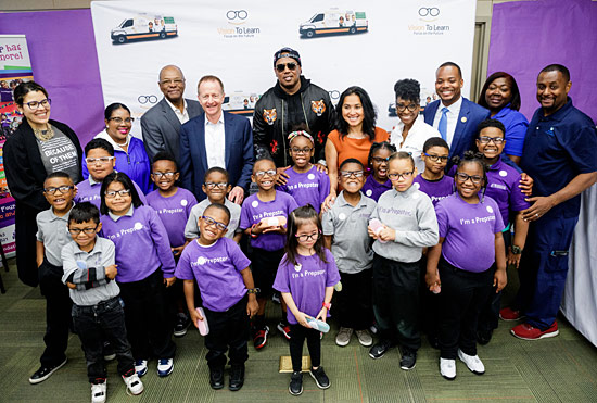 Glasses for students at Foundation Preparatory Charter School in New Orleans, April 26, 2018