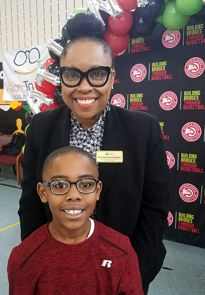 Atlanta Student with new eyeglasses