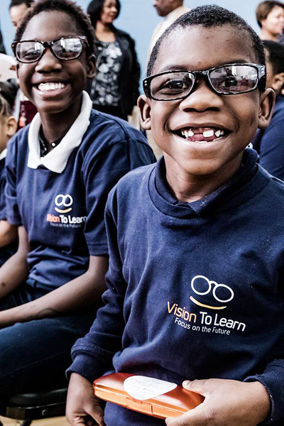 Detroit school children are all smiles with their new glasses