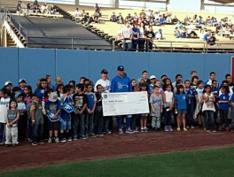 Vision to Learn kids celebrate at Dodgers Stadium