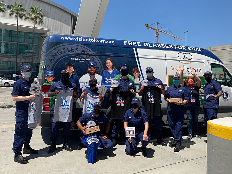 The Dodgers clinic helps to provide morale-boosters to various frontline responders in Los Angeles.