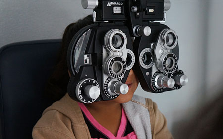 Eye Screening in mobile clinic