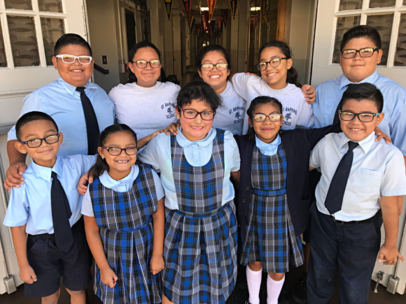 St. Raphael School kids go back to school with new glasses