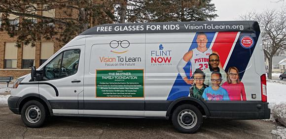 Flint Now, Detroit Pistons Mobile Clinic