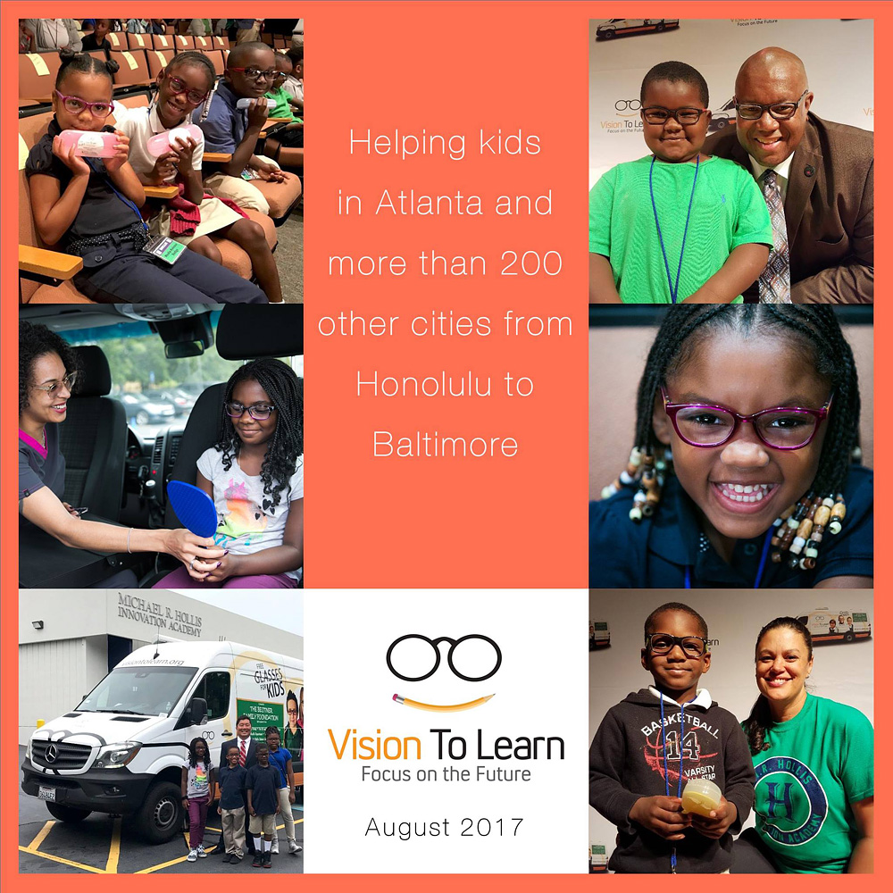 Vision To Learn helping kids in Atlanta