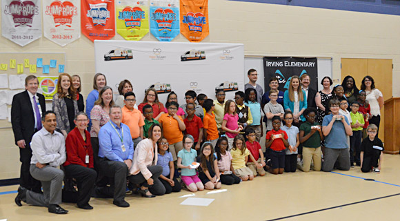 Waterloo Community School District, Spring 2017. Vision To Learn comes together with its valued local partners to celebrate a successful pilot at Irving Elementary in Waterloo: Waterloo Community School District, Operation Threshold, Cedar Valley Readers, Unity Point Health - Waterloo, Cedar Valley Medical Specialists, Prevent Blindness Iowa, and Community Foundation of Northeast Iowa.