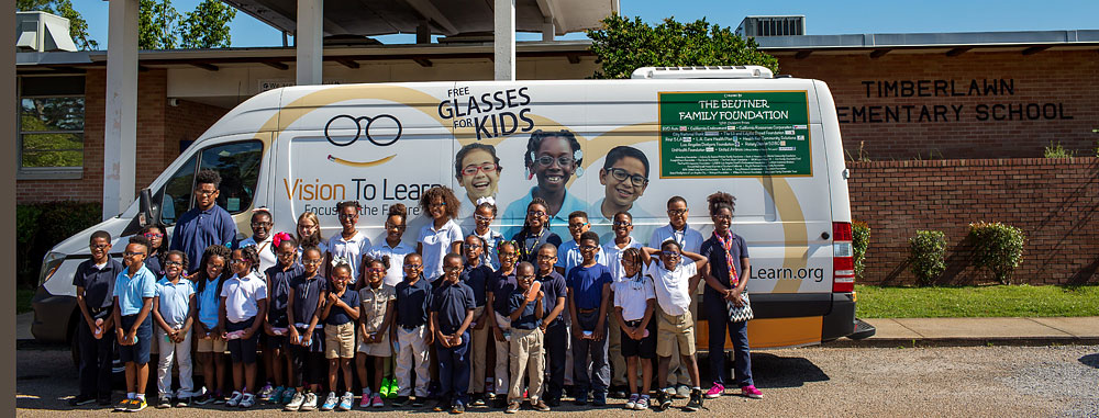 Mobile clinic visiting Timberlawn Elementary in Jackson, Mississippi