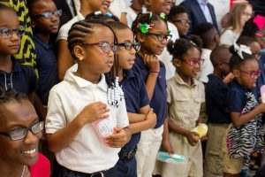 Timberlawn Elementary School Children receive their new glasses
