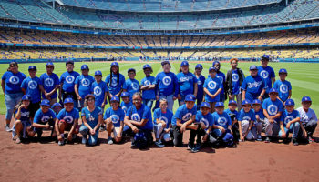 Compton and Los Angeles students are hosted by the Dodgers for a pre-game celebration.