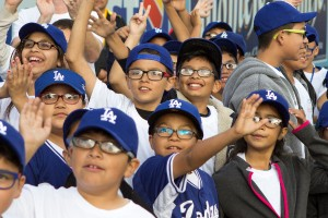 LA Doger child fans in their new glasses