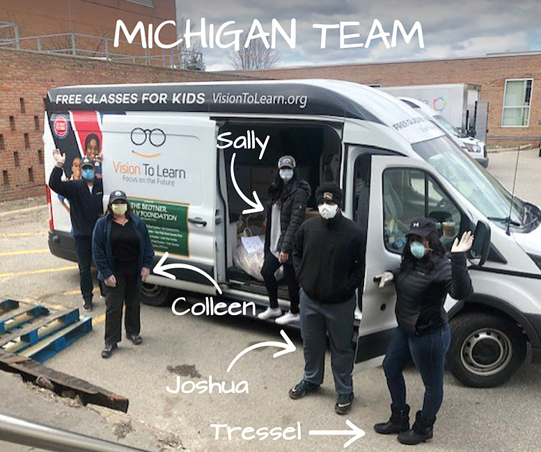 Michigan Team helps out with COVID