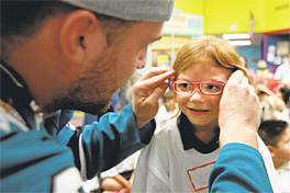 San Jose Sharks Help Students Get New Glasses