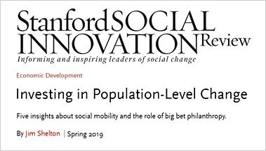 SSIR: Population Level Change