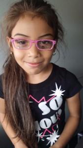school girl in glasses