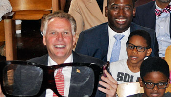 Gov. Terry McAuliffe and Mayor Levar Stoney on hand in Richmond